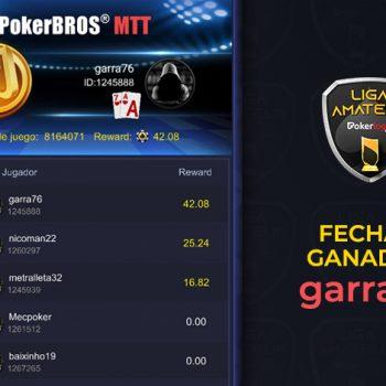 Pura garra76 memenangkan kencan ketiga Pokerlogia Liga Amatir