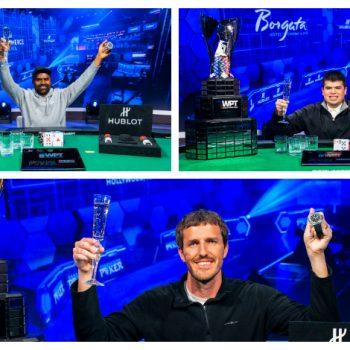 Sirkuit WPT menobatkan 3 champion / Pokerlogia baru