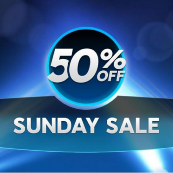 Sunday Sale Minggu ini kembali dengan diskon 50% / Pokerlogia