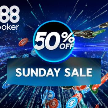 Minggu ini promosi 888poker / Pokerlogia Sunday Sale kembali