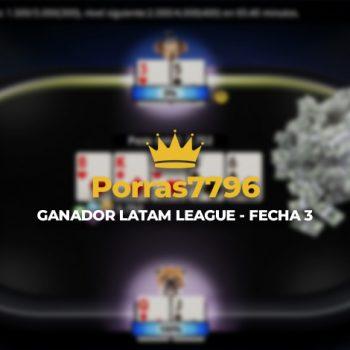 """Porras7796"" memenangkan Liga LATAM 16S"