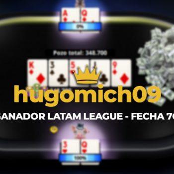 """hugomich09"" menyimpan tanggal 7O Liga LATAM"